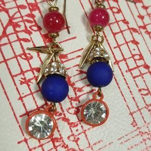 Stone dangle earrings